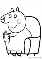 Peppa Pig para colorear. Imágenes de Peppa para colorear (6/8)