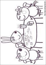 Peppa Pig para colorear. Imágenes de Peppa para colorear (7/8)