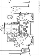 Peppa Pig para colorear. Imágenes de Peppa para colorear (8/8)