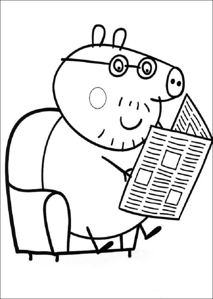 Peppa Pig Para Colorear2019 Dibujos De Peppa Pig Para