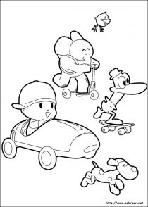 Dibujos de Pocoyo para colorear y pintar (2/21)