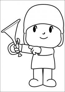 Dibujos de Pocoyo para colorear y pintar (6/21)