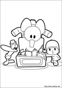 Dibujos de Pocoyo para colorear y pintar (7/21)
