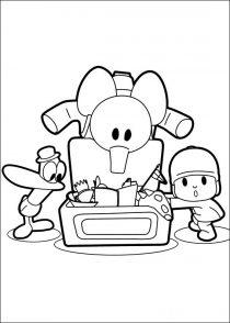Dibujos de Pocoyo para colorear y pintar (8/21)