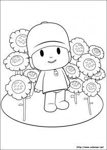 Dibujos de Pocoyo para colorear y pintar (9/21)