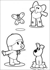 Dibujos de Pocoyo para colorear y pintar (12/21)