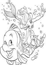 Dibujos de La Sirenita para colorear (1/16)