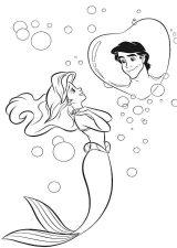 Dibujos de La Sirenita para colorear (2/16)