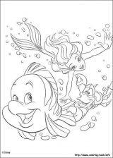 Dibujos de La Sirenita para colorear (5/16)