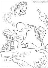 Dibujos de Ariel para colorear (6/12)