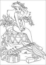 Dibujos de Ariel para colorear (11/12)