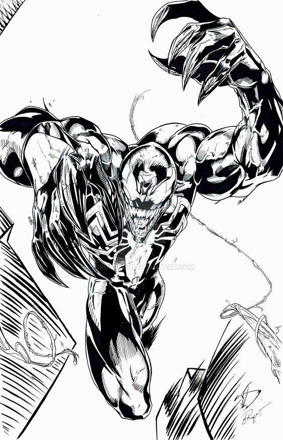 Dibujos De Venom Para Colorear E Imprimir Imagesacolorierwebsite
